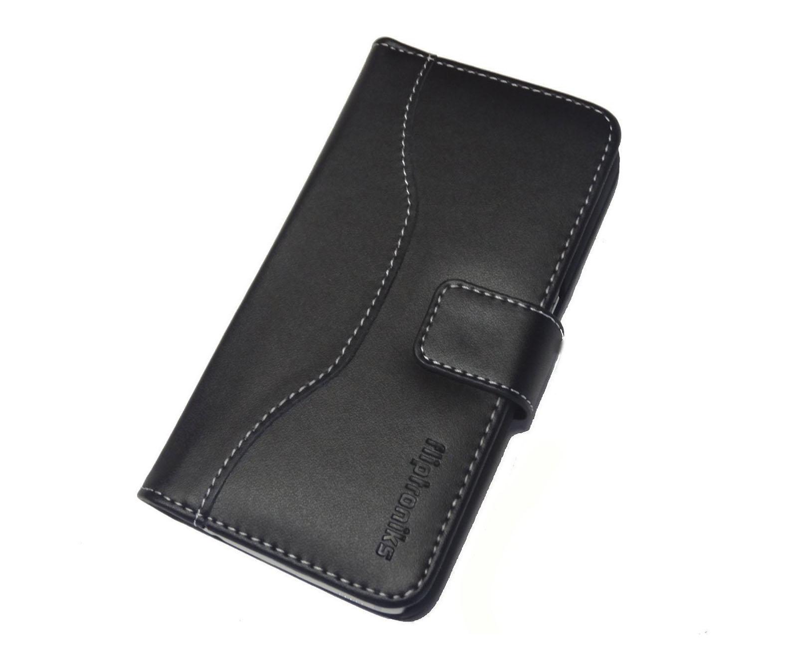 best service c2c3d 4bbf8 Fliptroniks Apple Iphone 5s Black Real Leather Wallet Flip Case Panther  Series