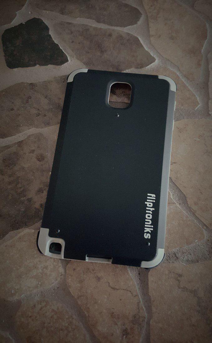 Fliptroniks Rhino Case for Samsung Galaxy Note 3 Matte Finish (Black)