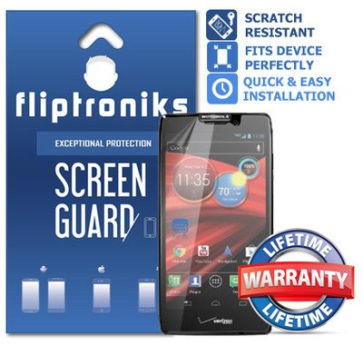 Fliptroniks Clear Screen Protector for Motorola Droid Razr M Lifetime Warranty 2 Pack