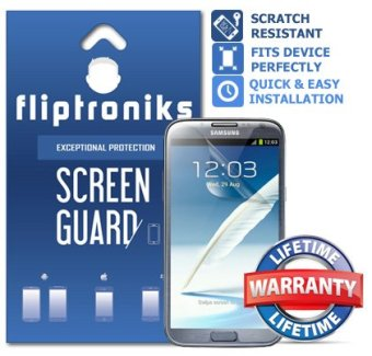 Fliptroniks Clear Screen Protector for Samsung Galaxy Note 2 with Lifetime Warranty 2 Pack
