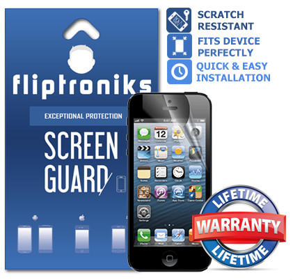 Fliptroniks Clear Screen Protector for Apple Iphone 5c Lifetime Warranty 2 Pack