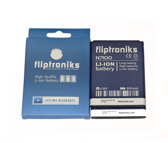 Fliptroniks 2 Pack of 3100mAh Li-ion Battery For Samsung Galaxy Note 2/II