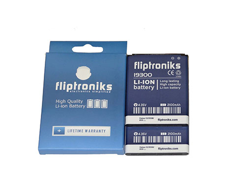 Fliptroniks 2 Pack of 2100 mAh Li-ion Battery For Samsung Galaxy SIII