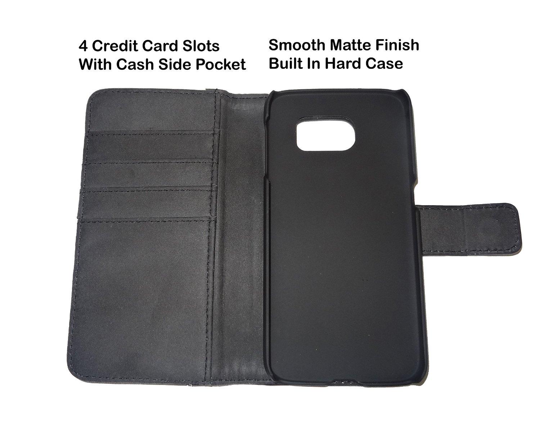Fliptroniks Samsung Galaxy S6 Edge Black Real Leather Wallet Case