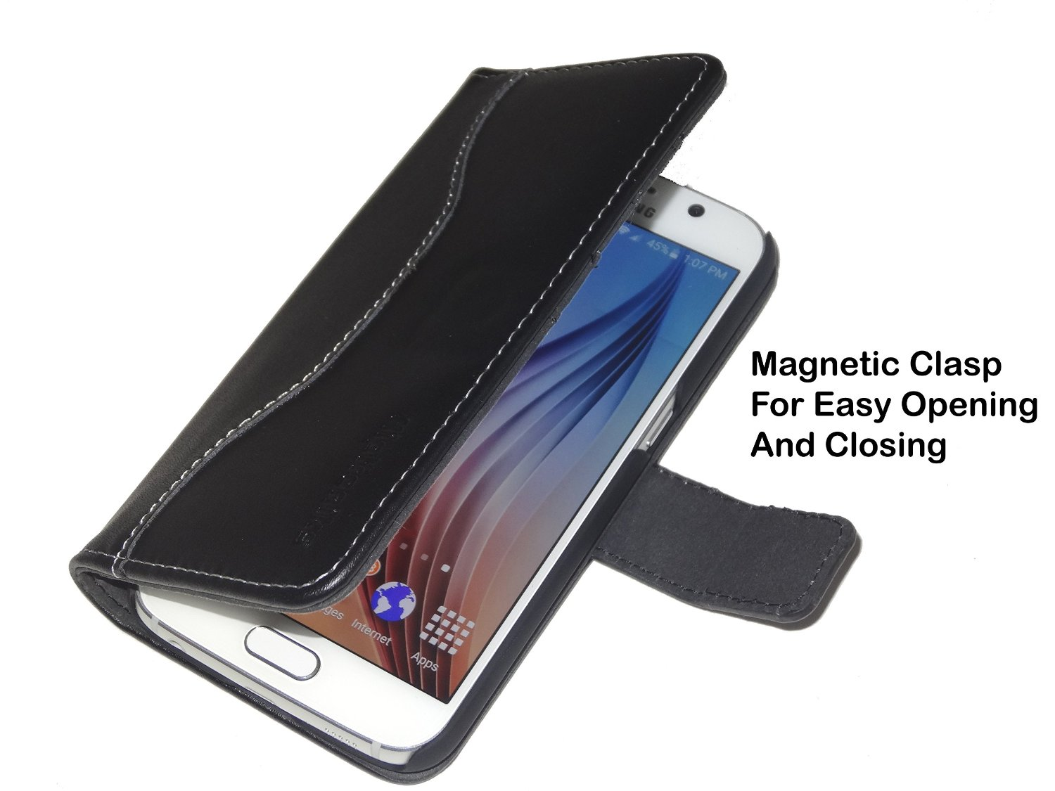 Fliptroniks Galaxy S6 Edge Leather Wallet Case