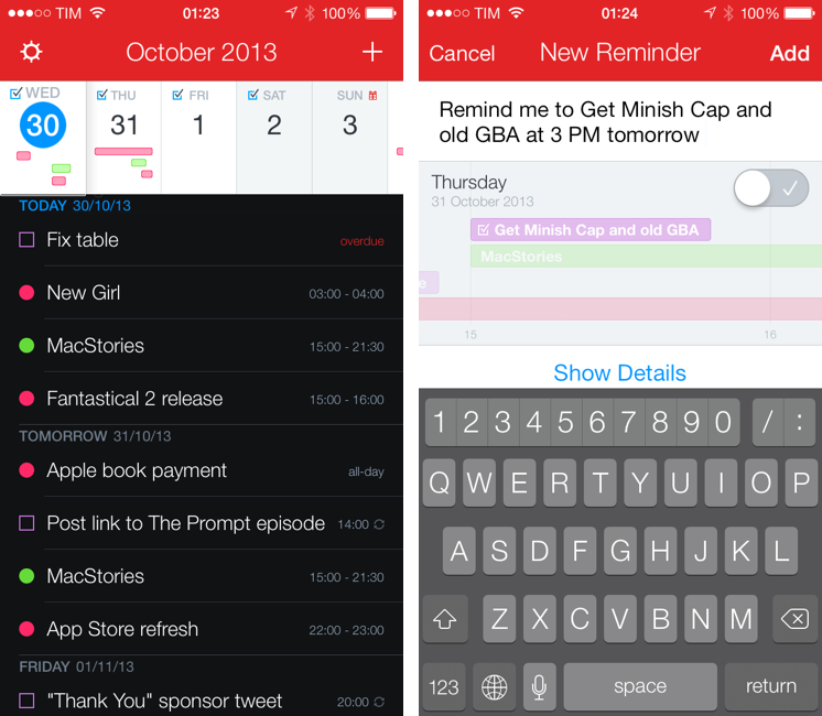 Fantastical 2 for iPhone - Calendar and Reminders - Flexibits Inc.
