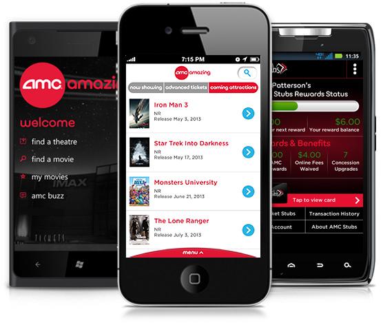 AMC Movie Theatre App for Iphone