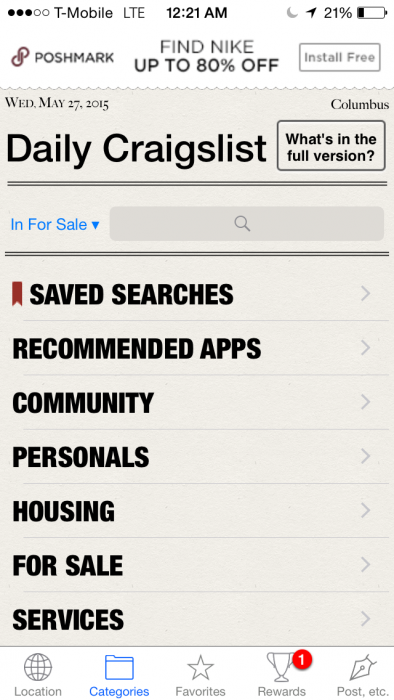 Daily For Craigslist Android App Review - Fliptroniks.com
